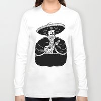 fat Long Sleeve T-shirts featuring The Fat Mariachi by David Penela