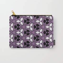 Decorative Bold Purple Geo Pattern Design Carry-All Pouch