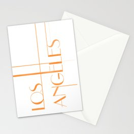 Los Angeles Deco Print Stationery Cards