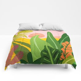 Jungle Morning Comforters