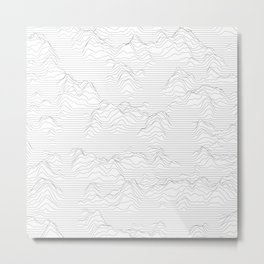 Line Mountains Metal Print