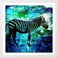 Zebra blooms Art Print