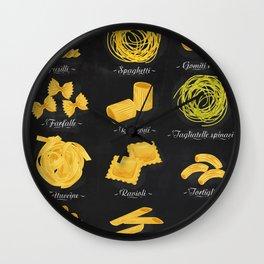 Pasta chalk Wall Clock