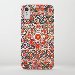 Bokhara Suzani  Antique Uzbekistan Floral Rug Print iPhone Case