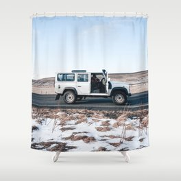 Day out shoting in Iceland Shower Curtain