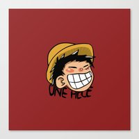 luffy Canvas Prints featuring Luffy by Paucibet