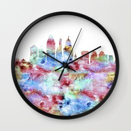 Cincinnati City Skyline Ohio Wall Clock