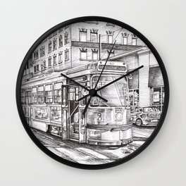 Spadina King (black and white) Wall Clock