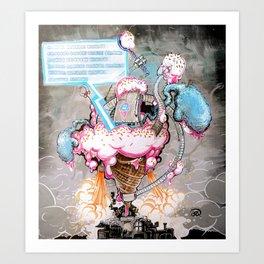 """Eiscreme 2099"" Art Print"