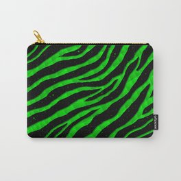 Ripped SpaceTime Stripes - Green Carry-All Pouch