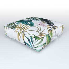 Watercolor jungle bouquet I Outdoor Floor Cushion