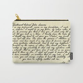 Alexander Hamilton Letter to John Laurens Carry-All Pouch