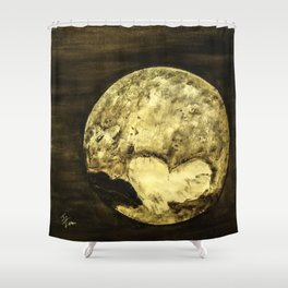 Universal Love from Pluto Shower Curtain