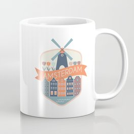 Amsterdam Houses and Windmill Coffee Mug