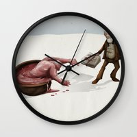 evolution Wall Clocks featuring Evolution by Lee Grace Design and Illustration