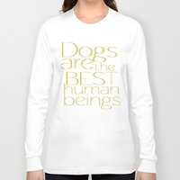 dogs Long Sleeve T-shirts featuring Dogs by Suchita Isaac