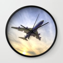 Boeing 747 Sunset  Wall Clock