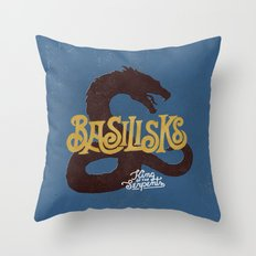 Basilisks Throw Pillow