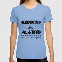 Bold Cinco de Mayo Mexican Holiday Typography T-shirt