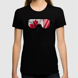 Canadian Goggles | Goggle Art Design | DopeyArt T-shirt