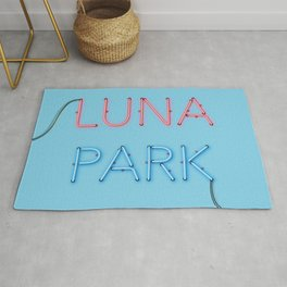 LUNA PARK - cyan strong Rug