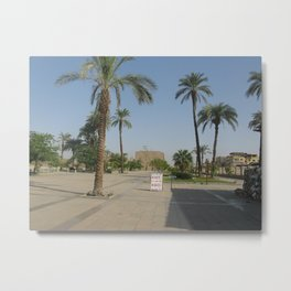 Temple of Karnak at Egypt, no. 1 Metal Print