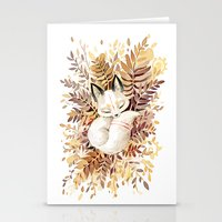 cuddle Stationery Cards featuring Slumber by Freeminds