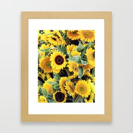 Happy Sunflowers Framed Art Print