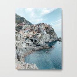 Manarola Pastel Houses Cinque Terre Italy Fine Art Travel Print | Amalfi Coast | Italy Art Print Metal Print