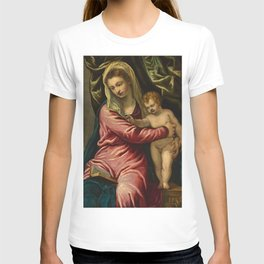 """Tintoretto (Jacopo Robusti) """"Virgin Mary and the child"""" T-shirt"""