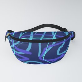Blue Wiggle Abstract Fanny Pack