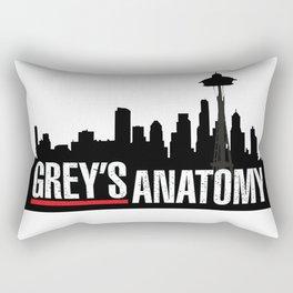 Grey's Anatomy black Rectangular Pillow