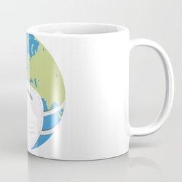 Planet Earth using a face mask Coffee Mug