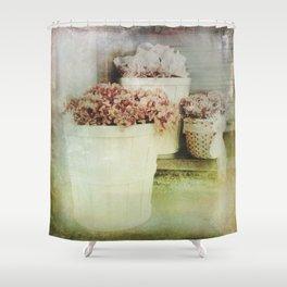 Vintage Street Flowers Shower Curtain