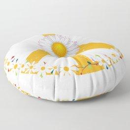 Daisy Peace Sign Floor Pillow