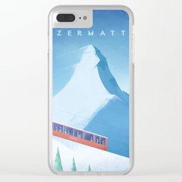 Ski Zermatt Clear iPhone Case