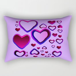 Transparent Heart Rectangular Pillow