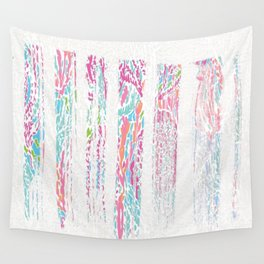 Pinstripes of Color Wall Tapestry