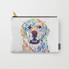 Golden Retriever Watercolor Pet portrait Painting Carry-All Pouch