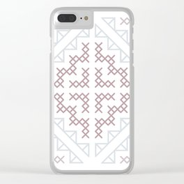 Tribal Hmong Embroidery Clear iPhone Case