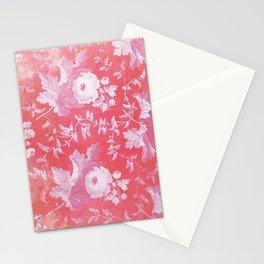 Patterned Silk Rose Stationery Cards