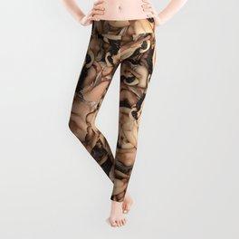 Nude Lady Ladies Funny Pattern Leggings