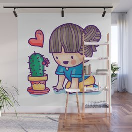 cactus lover Wall Mural
