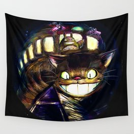 Cat Bus is In Your Town! Miyazaki Tribute Digital Fan Painting Wall Tapestry