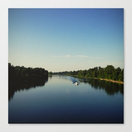 Boating on the Willamette Canvas Print