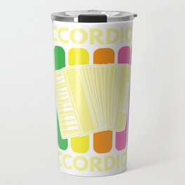 Accordion Melodeon Piano Accordion Retro Gift Idea Travel Mug