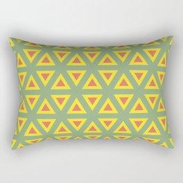 Triangle orange, green and yellow pattern Rectangular Pillow