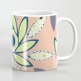 Sunflowers Octagon Peach, Lime Coffee Mug