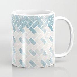 Dusty shabby blue and natural straw 2 Coffee Mug