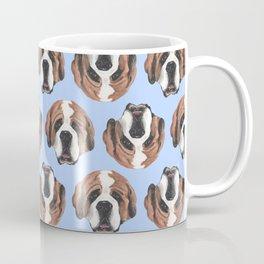 St Bernard in Blue Coffee Mug